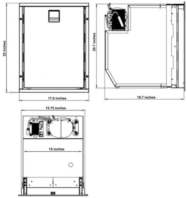 Isotherm Cruise 49 marine refrig1erator dimensions